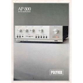 Quadro 20x30 Amplificador Polyvox Ap-800 C/ Vidro E Moldura