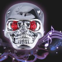 Knob Botão Caveira Em Metal Prateado Para Guitarra Ou Baixo