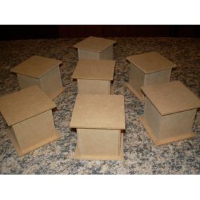 Cajitas De Fibrofacil 6x6x6 Con Base Oferta!! X20 Unidades