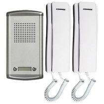 Commax Kit De Intercomunicación Para Casa Duplex-2am/dp-ss