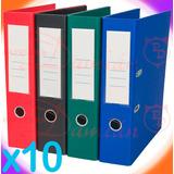 Bibliorato Color Forrado Pvc Reforzado A4 X10u