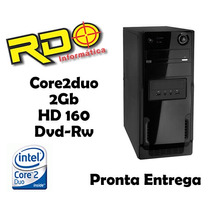Cpu Barato Intel Core2duo 2gb Hd160 Dvd Gabinete Novo 100%