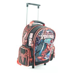 Mochila Carro Jardin 12p. Spiderman Hombre Araña Mundo Team
