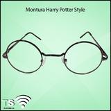 Montura Oftalmologica Harry Potter Style Metal Negro -lentes