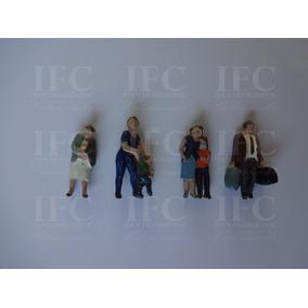 Figuras De Chumbo Família De Passageiros Escala Ho 1:87 4pçs