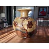 Vaso Europeu Em Cerâmica Esmaltada E Vitrificada