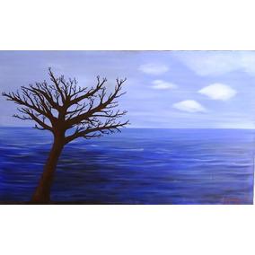 Cuadro Pintado Al Óleo Sobre Tela - Atardecer En El Mar