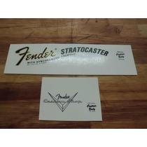 Logo Decal Para Fender Stratocaster 70 Made In Usa