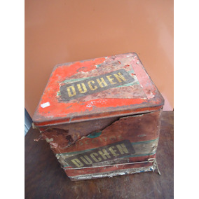 Lata Antiga Biscoitos Duchen Grande / Antiguidade