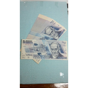 Billete Antiguo 20,000 Pesos Andres Quintana Roo