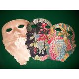 3 Antiguos Antifaces De Carnaval . Decada De Los 50 .