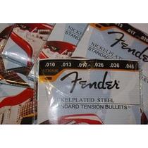 10 Jogos De Cordas Fender 0,10 Para Guitarra, Frete Grátis!