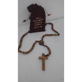 Terço São Padre Pio C/embalagem Imbuia.