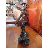 Escultura Don Quijote De La Mancha Estilo Antiguo Original