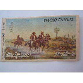 Bilhete Passagem Viação Cometa Rio De Janeiro-são Paulo 1957
