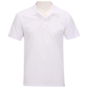 Blusa Camisa Polo Oxer Basic West Masculina Branca Tam. P