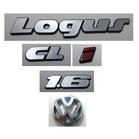 Kit Emblemas Volkswagen Logus Cl I Vw Grade 1.6 91 À 97