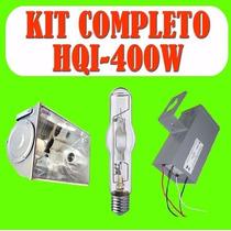 Refletor Hqi 400 Watts 400w Completo Com Reator E Lampada