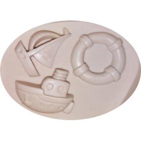 Molde De Silicone Marinheiro Barcos Confeitaria E Biscuit