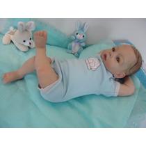 Bebê Reborn Menino, Com 2,55kg, 51 Cm, Cabelos Enraizados