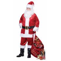 Disfraz De Santa Claus Adulto. T Chica/mediana. Envio Gratis