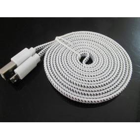 Cable Microusb 3 Metros Largo Uso Rudo Plano Carga&datos