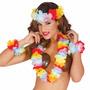 Conjunto Hawaiano Vincha, Collar, Pulsera, Tobillera