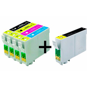 Kit 5 Cartucho Epson 135 To1351 133 Stylus T25 Tx123 Tx125