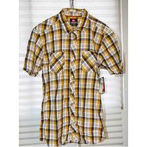 Camisa Algodon A Cuadros Hombre Quiksilver 100% Original