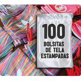 100 Bolsitas Tela Estampadas Personalizadas/oferta!!!