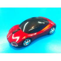 Usb Led Wireless Óptico Mouse Auto Deportivo