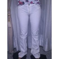Pantalon Blanco Talle 38, Marca Scombro Original Muy Bueno