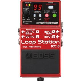 Pedal Boss Rc3 Loop Station Na Cheiro De Música Loja !!