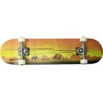 Longboard Krown Safari (7.5 X 31 Pulgadas) Amarillo-café