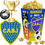 Kit Imprimible Boca Juniors Candy Bar Cotillon Tarjetas 2x1