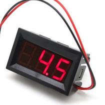 Voltímetro Digital Medidor Dc Bateria Som Automotivo Moldura