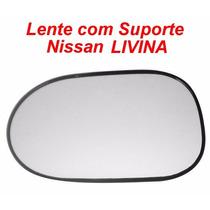Espelho Lente Com Suporte Nissan Livina Esquerdo