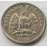 Mexico Republica 10 Centavos 1892 Mo M Plata 0.9020 Escasa