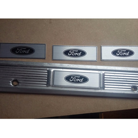 Par Logo Ford Soleira Maverick Galaxie Plaqueta Emblemapa