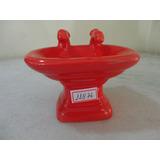 #11876 - Saboneteira Porcelana Pia Vermelha Quadrada!!!