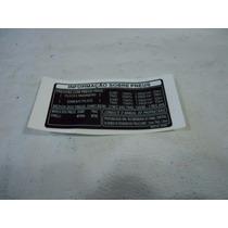 Adesivo Precaucao Capa Corrente Falcon Original (pneu)