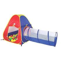 Toca Infantil 2 Em 1 Com 60 Bolinhas Braskit Tunel Barraca