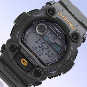 Relogio Casio G-shock G-7900 Verde Oliva Militar Lua E Maré