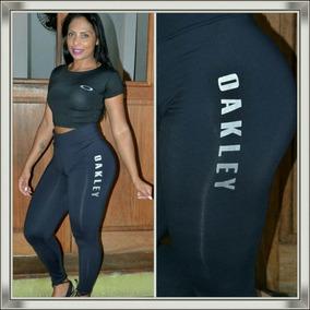 Calça Legging + Cropped Oakley Conjunto Kit Blusa Feminina