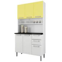 Cozinha Compacta Regina Itatiaia I3g2-105 Branco/amarelo