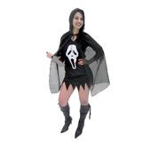 Fantasia Panico Feminina,halloween,cosplays,dia Das Bruxas