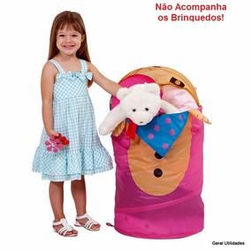 Cesto Dobrável Organizador Multiuso Porta Brinquedos Roupas