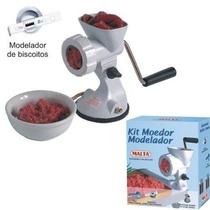 Kit Moedor De Carne E Modelador Biscoito Manual - Malta