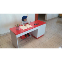 Escritorio Para Niños Tareas Y Banco Alcolchado