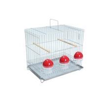Gaiola Canários Para 3 Comedouros Aves Pet 33x30x21cm